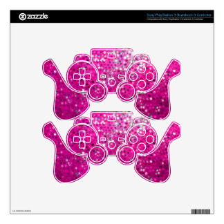 Elegant Pink Glitter & Sparkles Decal For PS3 Controller