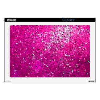 Elegant Pink Glitter & Sparkles Decals For Laptops