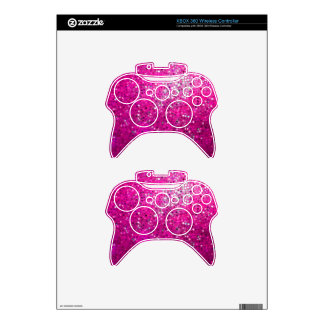 Elegant Pink Glitter & Sparkles Xbox 360 Controller Decal