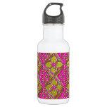 Elegant Pink & Gold Metallic Floral 18oz Water Bottle