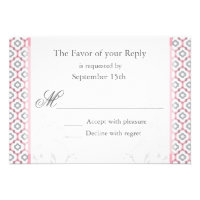 Elegant Pink &amp; Gray Garden Wedding Invitations (<em>$2.05</em>)