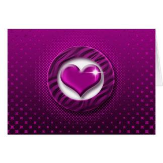 Elegant pink heart cards