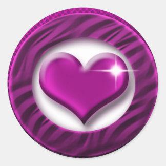 Elegant pink heart stickers
