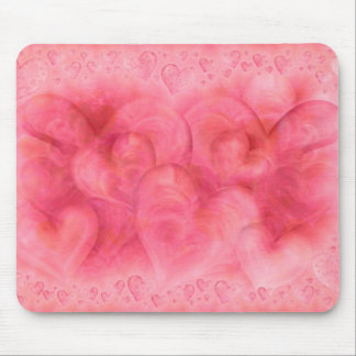 Elegant Pink Hearts Mousepad