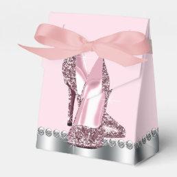 Elegant Pink High Heel Shoe Favor Box