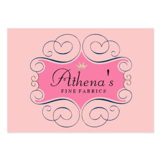 Elegant Pink Label Large Business Card