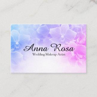 *~* Elegant Pink Lavender Flower Macro Photo Business Card
