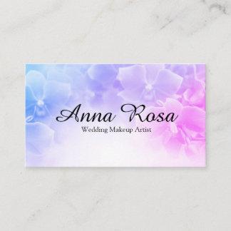 *~* Elegant Pink Lavender Flower Photo Business Card