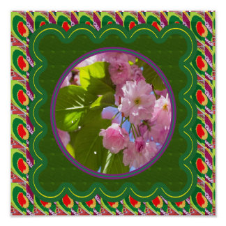 Elegant Pink Lily Lilly Flowers Florals Poster