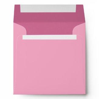 Elegant Pink Linen Envelopes