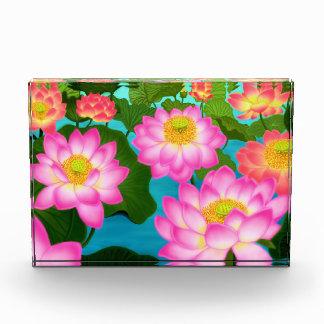Elegant Pink Lotus Flowers Award