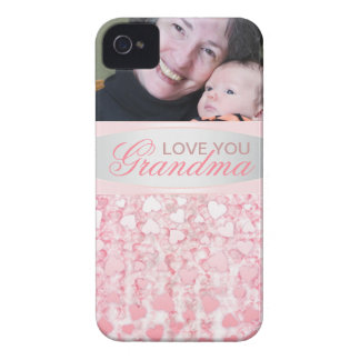 Elegant pink love you grandma iPhone 4 case