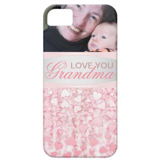 Elegant pink love you grandma iPhone 5 case