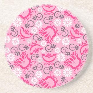 Elegant pink magnet drink coaster