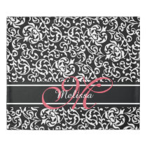 Elegant Pink Monogram Chic Girls Room Duvet Cover