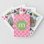 Elegant Pink Moroccan Quatrefoil Personalized Card Deck