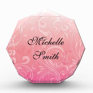 Elegant Pink Orange Floral Awards