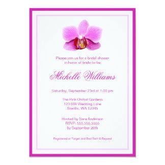 Elegant Pink Orchid Bridal Shower Card