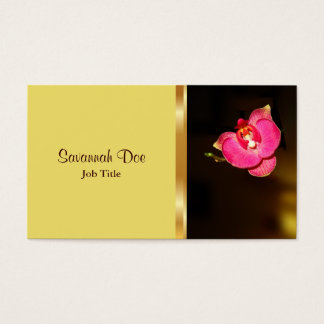 Elegant Pink Orchid business card
