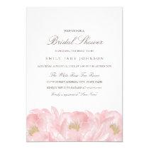 Elegant Pink Peony Bridal Shower Invitation