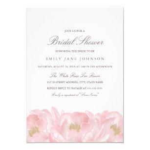 Elegant bridal shower invitations zazzle elegant pink peony bridal shower invitation filmwisefo