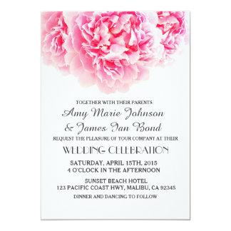 Elegant pink peony wedding invitations peony3