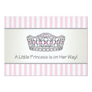Elegant Pink Princess Baby Shower Announcement