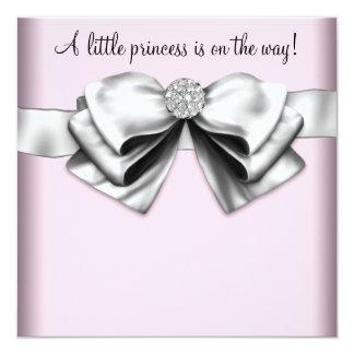 Elegant Pink Princess Baby Shower Custom Invitation