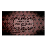 elegant pink purple damask distressed knitting Double-Sided standard business cards (Pack of 100)