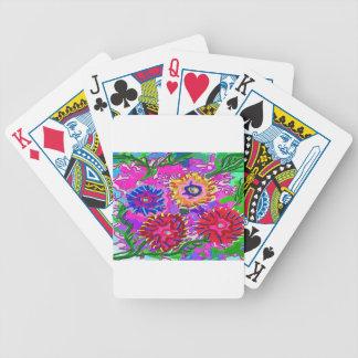 Elegant Pink Purple Flower Garden Bicycle Playing Cards