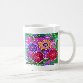 Elegant Pink Purple Flower Garden Coffee Mug
