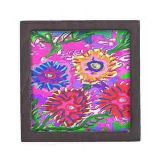 Elegant Pink Purple Flower Garden Gift Box