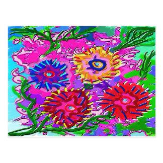 Elegant Pink Purple Flower Garden Postcard