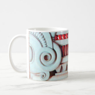 ELEGANT PINK RED ART NOUVEAU,FANTASY MARBLE  DECOR COFFEE MUG