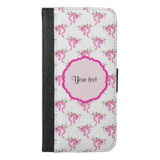 Elegant Pink Romantic Bows iPhone 6/6s Plus Wallet Case