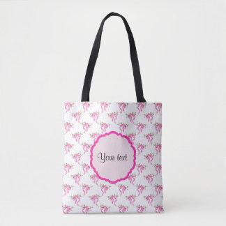 Elegant Pink Romantic Bows Tote Bag