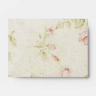 elegant Pink  rose Floral vintage  wedding Envelope
