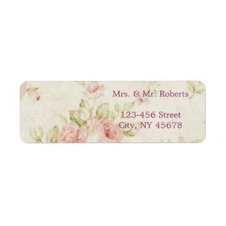 elegant Pink  rose Floral vintage  wedding Label