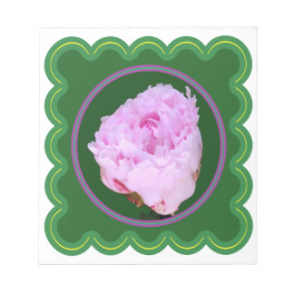 Elegant Pink Rose Flower Floral print on 100 gifts Notepad