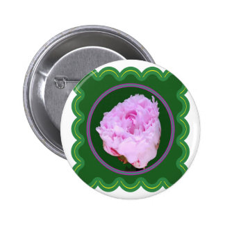 Elegant Pink Rose Flower Floral print on 100 gifts Pinback Button
