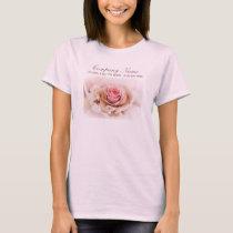 elegant pink rose flower wedding florist T-Shirt