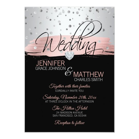 best of rose gold wedding invitation and 36 rose gold wedding invitations and rsvp