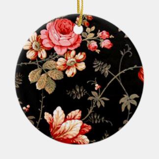 Elegant Pink Rose Ornament