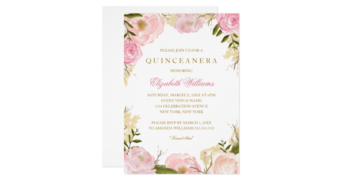 quinceaà era invitations zazzle