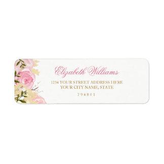 Elegant Pink Rose Return Address Label