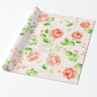 Elegant Pink Rose vintage Pattern customize Wrapping Paper