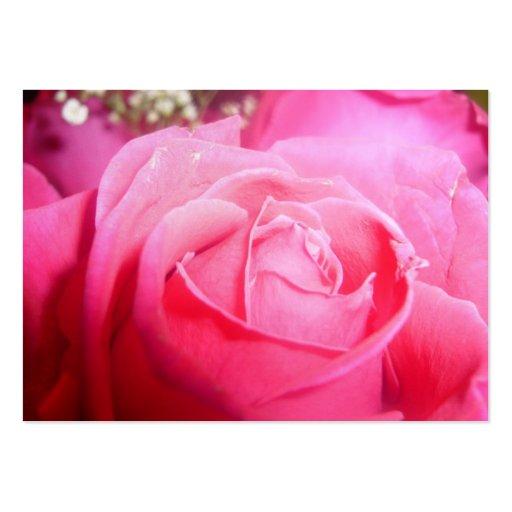 Elegant Pink Rose Wedding Planner Business Card