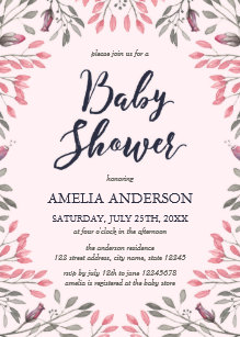 Elegant pink rose baby shower invitations announcements zazzle elegant pink roses floral baby shower invitation filmwisefo Gallery