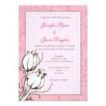 Elegant Pink Roses Floral Wedding Invitation