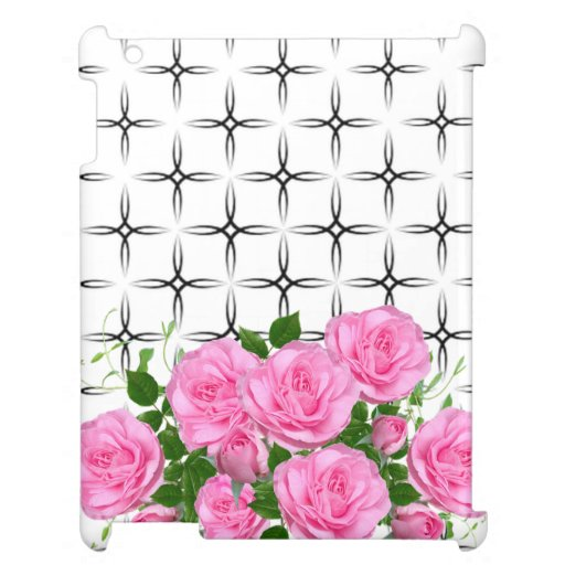 Elegant,Pink Roses,Geometric Case For The iPad